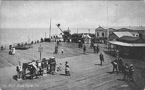 Early scene at Ryde Pierhead