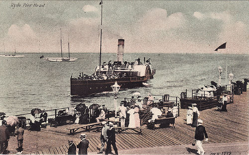 Ferry arriving at Ryde Pier Head